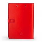 červené kožené desky, přední strana