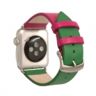 Kozeny Reminek Pure pro Apple Watch Pink Green Titulni Obrazek