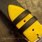 Kozeny Reminek Pure pro Apple Watch Zluty Detail