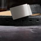 Spezialschnalle - gebürsteter Stahl