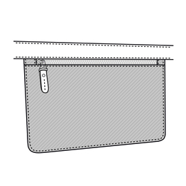 Pocket With Zip 28cmx17cm