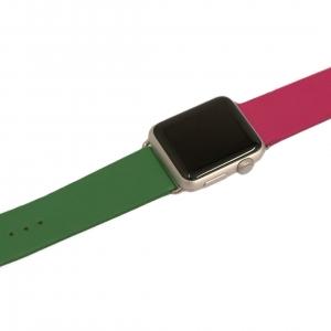 Kozeny Reminek Pure pro Apple Watch Pink Green Horni Pohled